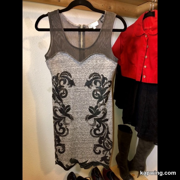 c6a44208644dc Miss Me Dresses | Beaded Mesh Mini Dress | Poshmark